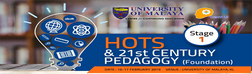 HOTS & 21st CENTURY PEDAGOGY (Foundation) Stage 1